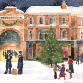 Pack of 10 Snow Scene Marie Curie Charity Christmas Cards