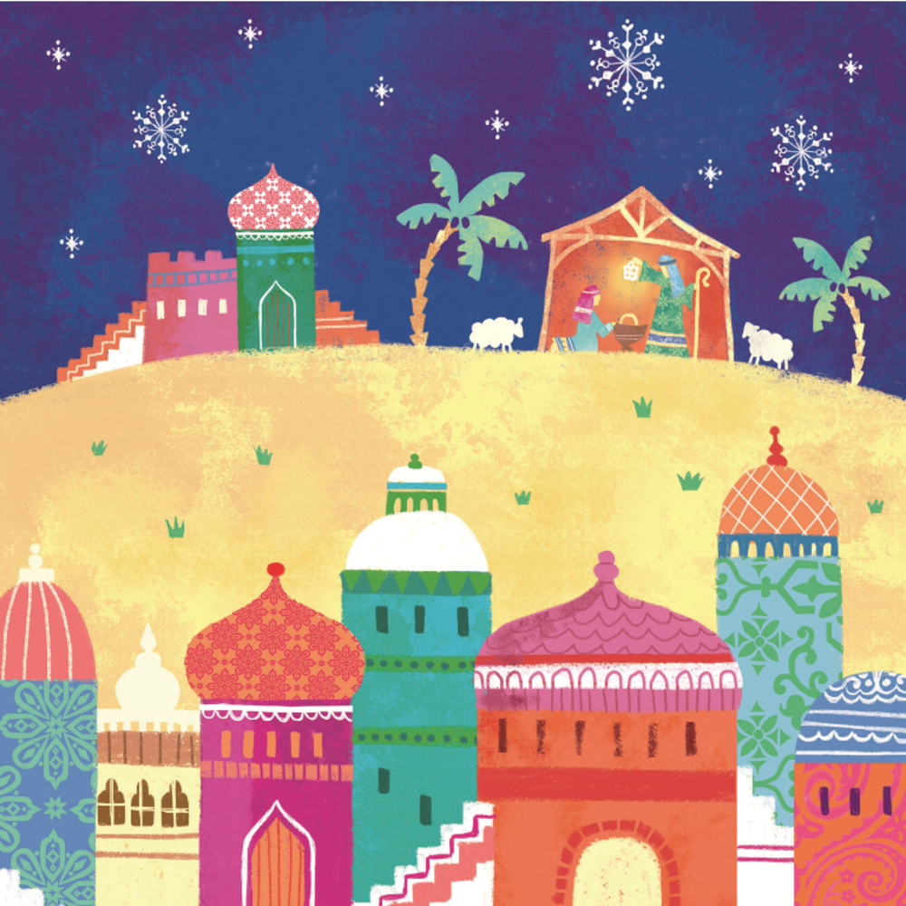 Pack of 10 Nativity NSPCC Charity Christmas Cards