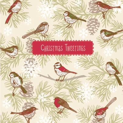 Pack of 10 Tweetings British Heart Foundation Charity Christmas Cards