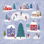 Pack of 10 Snow Scenes NSPCC Charity Christmas Cards