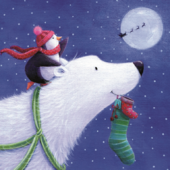 Pack of 10 Polar Bear NSPCC Charity Christmas Cards