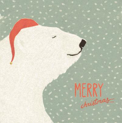 Pack of 8 Polar Bear Samaritans Charity Christmas Cards