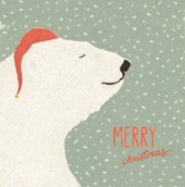 Pack of 8 Polar Bear Samaritans Charity Christmas Cards
