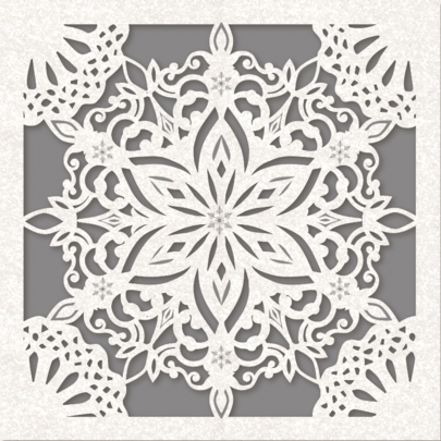 Pack of 8 Snow Flake Alzheimer's Society Charity Christmas Cards
