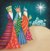 Pack of 8 Three Kings Alzheimer's Society Charity Christmas Cards