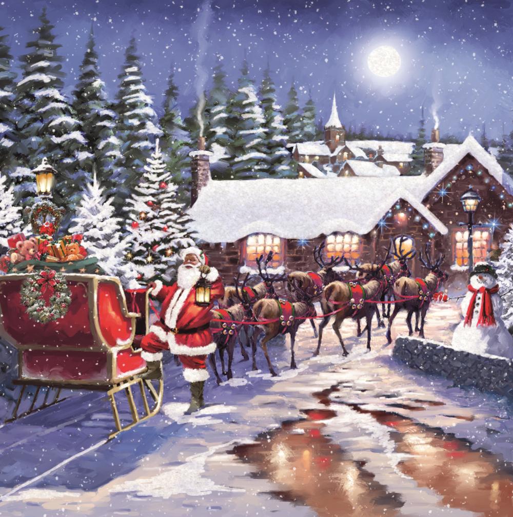 Pack of 8 Santa & Reindeers RSPCA Charity Christmas Cards