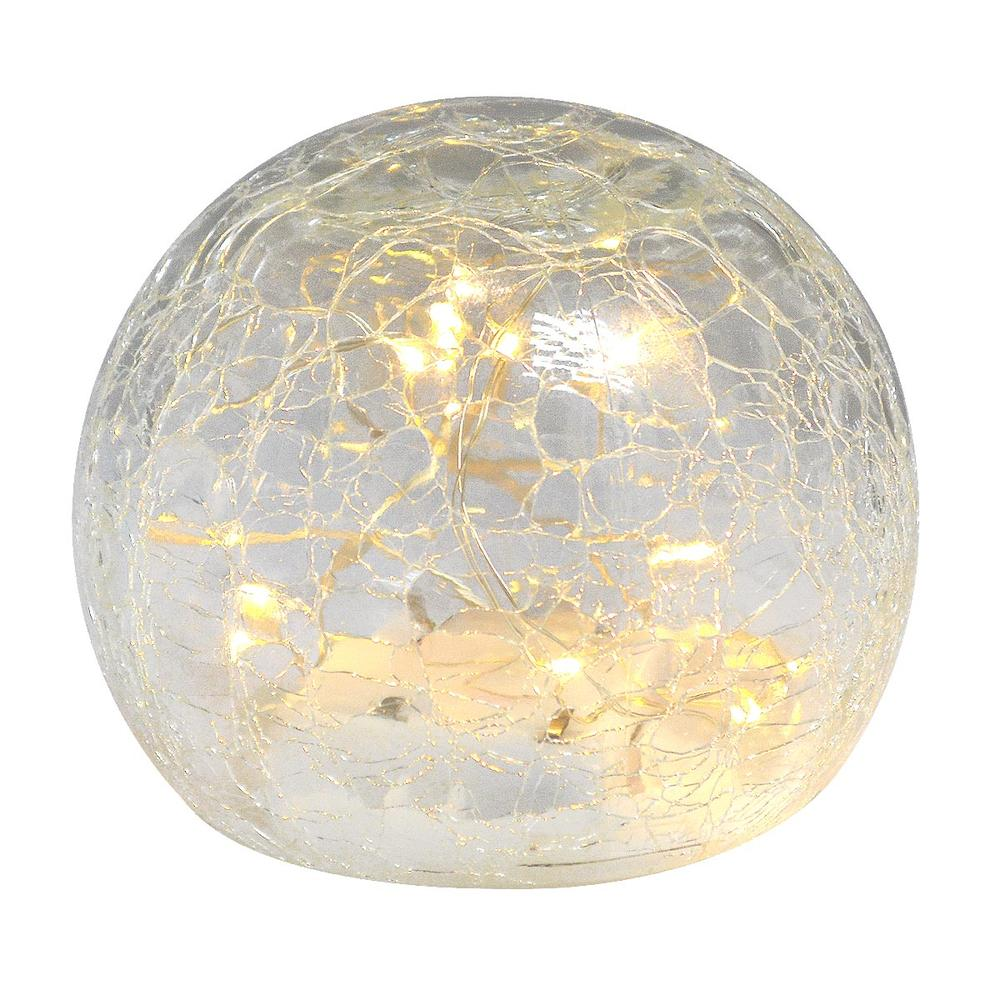 Crackle Lamp Glass Light Up Spherical Ball