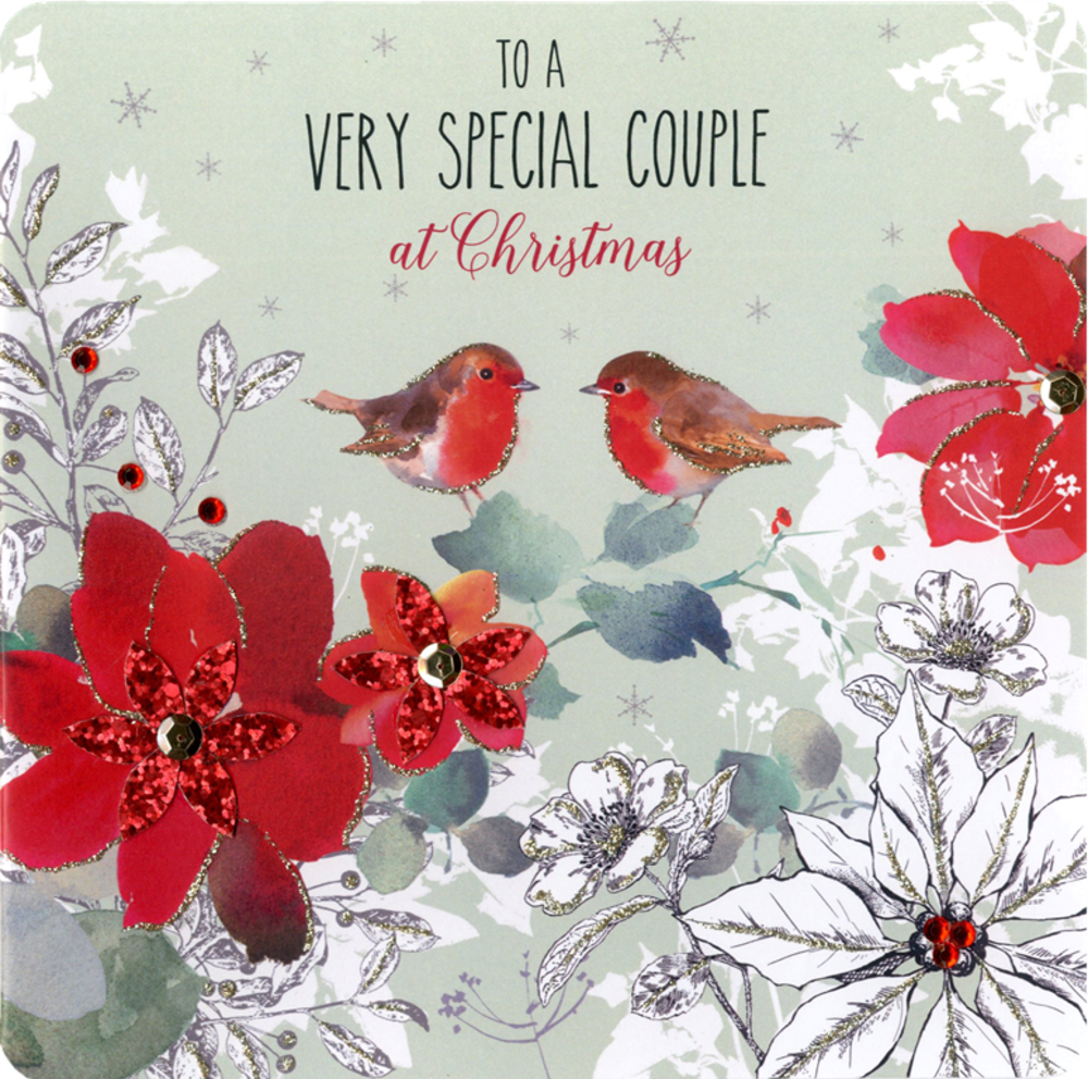 Boxed Special Couple Special Luxury Handmade Christmas Card