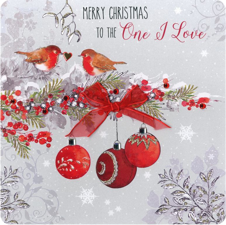 One I Love Special Luxury Handmade Christmas Card Cards
