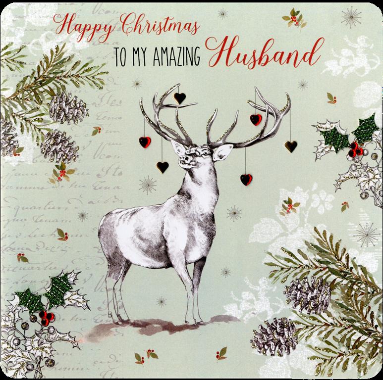 Amazing Husband Special Luxury Handmade Christmas Card   Cards