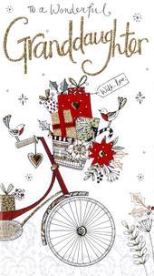 Granddaughter Embellished Christmas Card