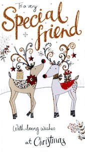To Special Friend Embellished Christmas Card