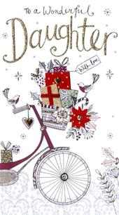 Daughter Embellished Christmas Card
