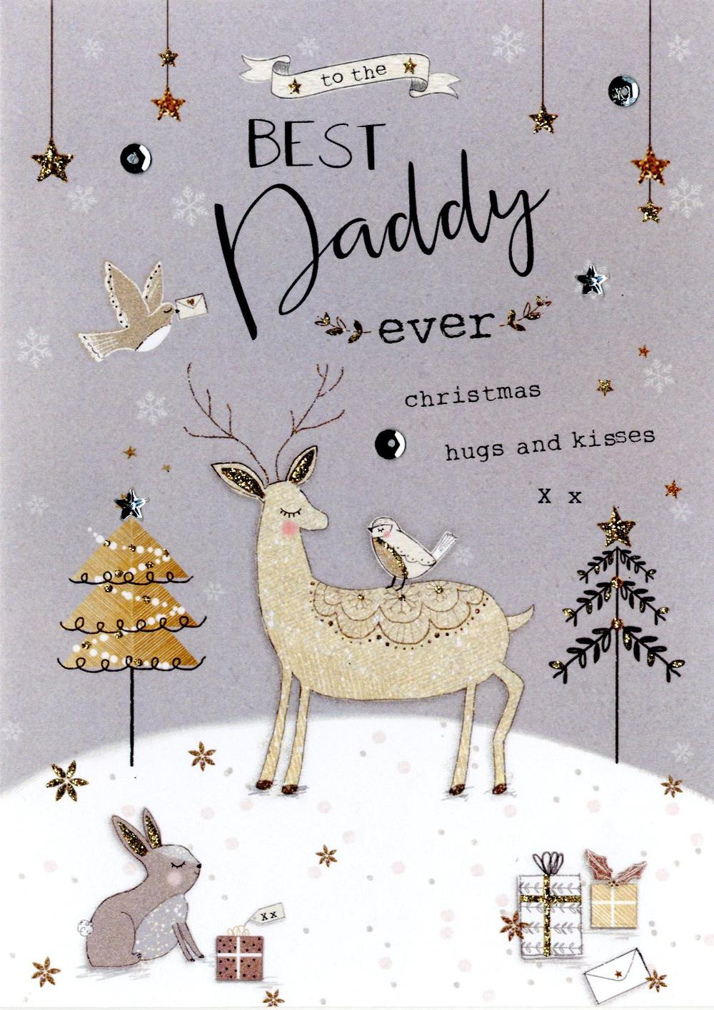 Best Daddy Embellished Christmas Card