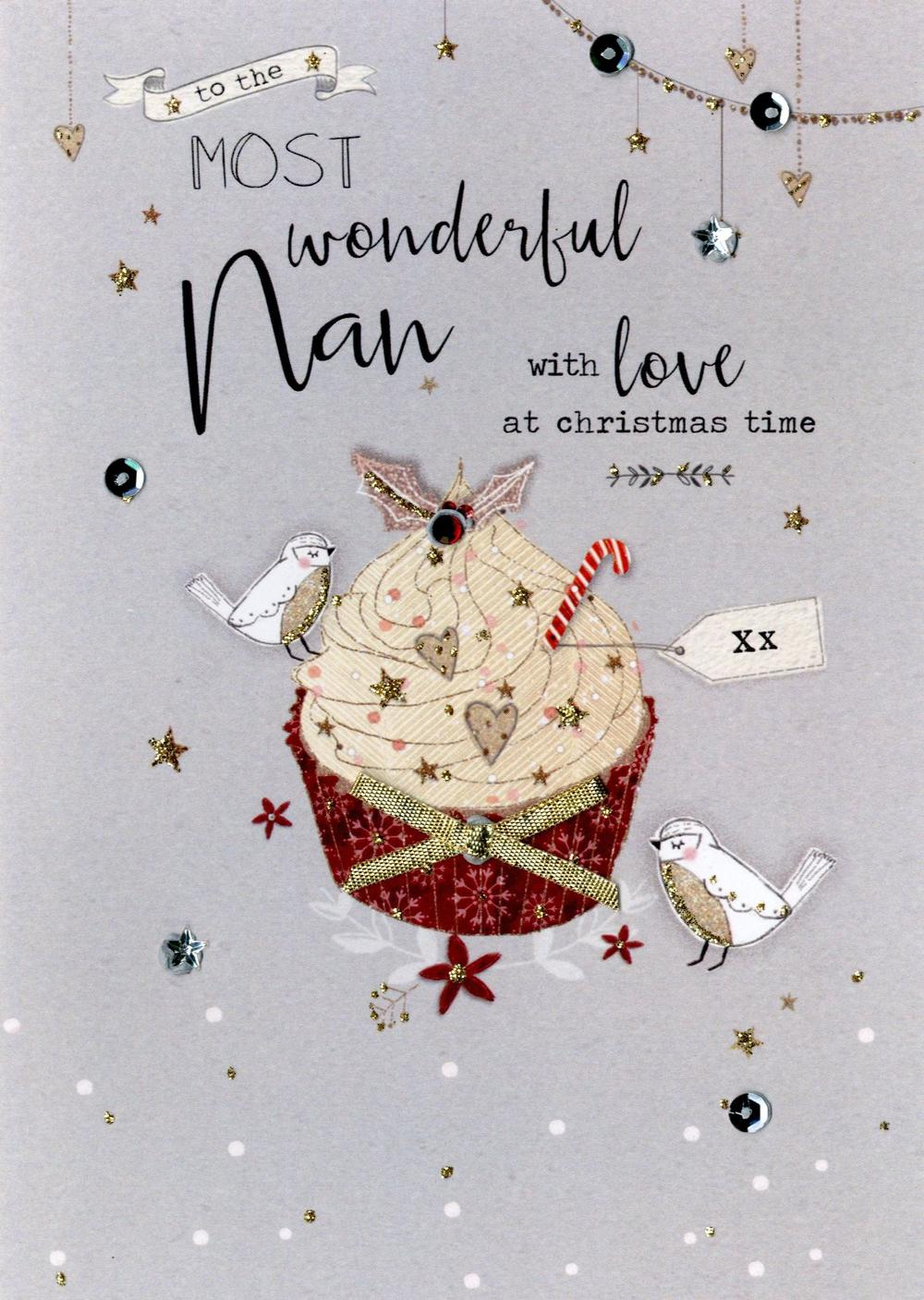 Wonderful Nan Embellished Christmas Card