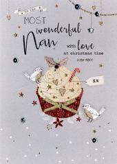Wonderful Nan Embellished Christmas Card