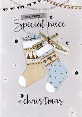 Special Niece Embellished Christmas Card