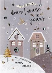 Our House To Yours Embellished Christmas Card