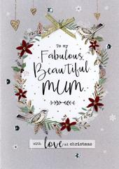 Beautiful Mum Embellished Christmas Card