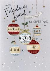 Fabulous Friends Embellished Christmas Card