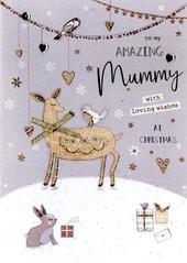 Amazing Mummy Embellished Christmas Card
