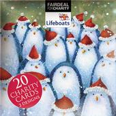 Box of 20 Penguin & Deer RNLI Lifeboats Charity Christmas Cards