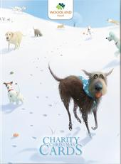 Box of 12 Toby Dog Woodland Trust Charity Christmas Cards