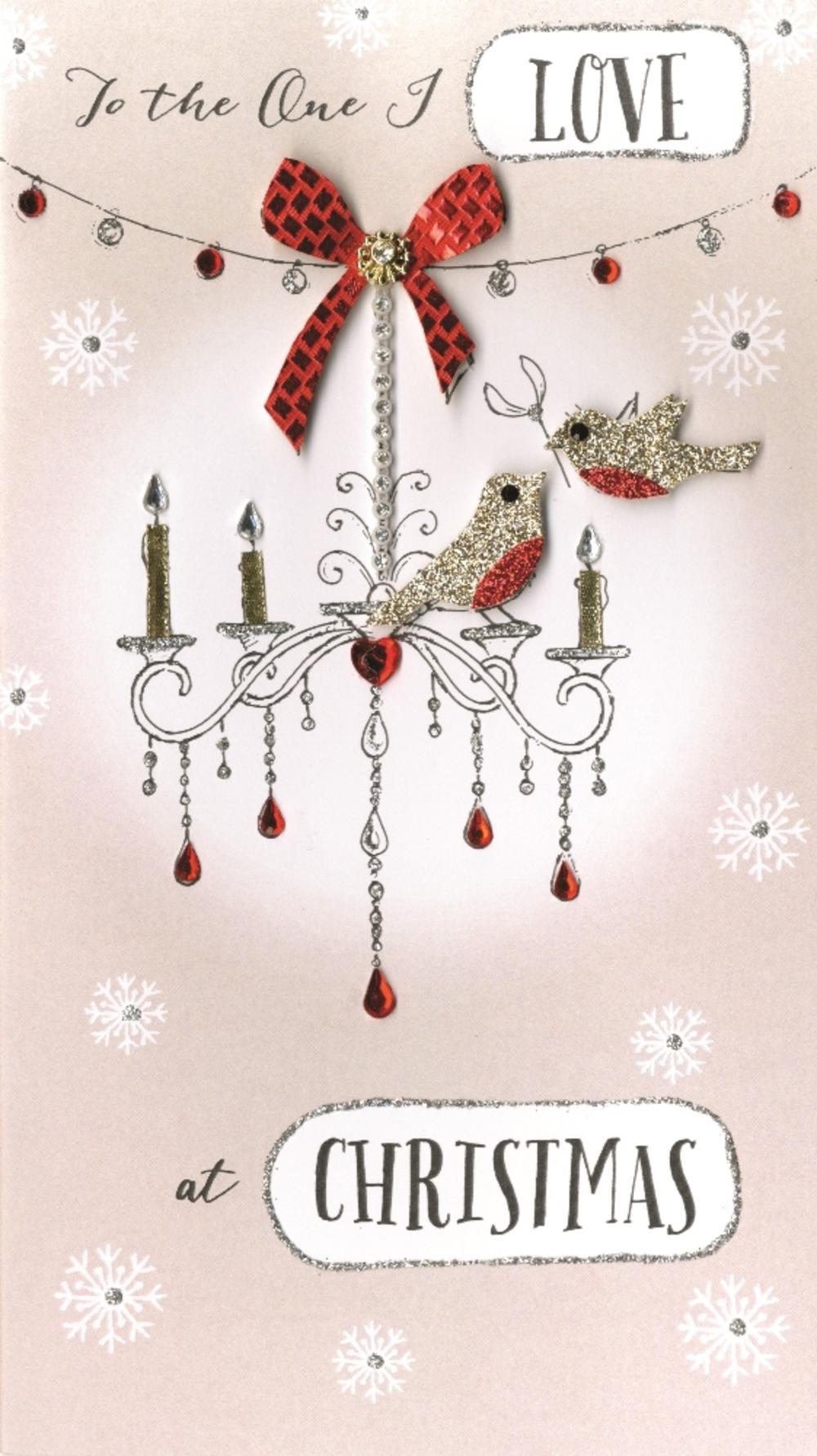 One I Love Embellished Christmas Card