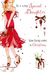 Special Daughter Embellished Christmas Card