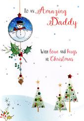 Amazing Daddy Embellished Christmas Card