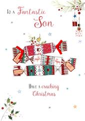 Fantastic Son Embellished Christmas Card