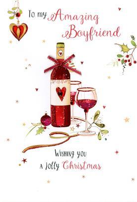 Amazing Boyfriend Embellished Christmas Card