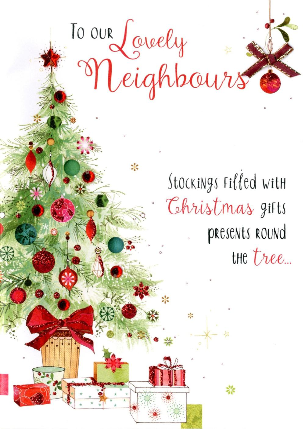 Lovely Neighbours Embellished Christmas Card
