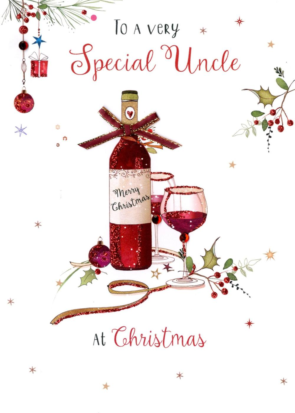 Special Uncle Embellished Christmas Card