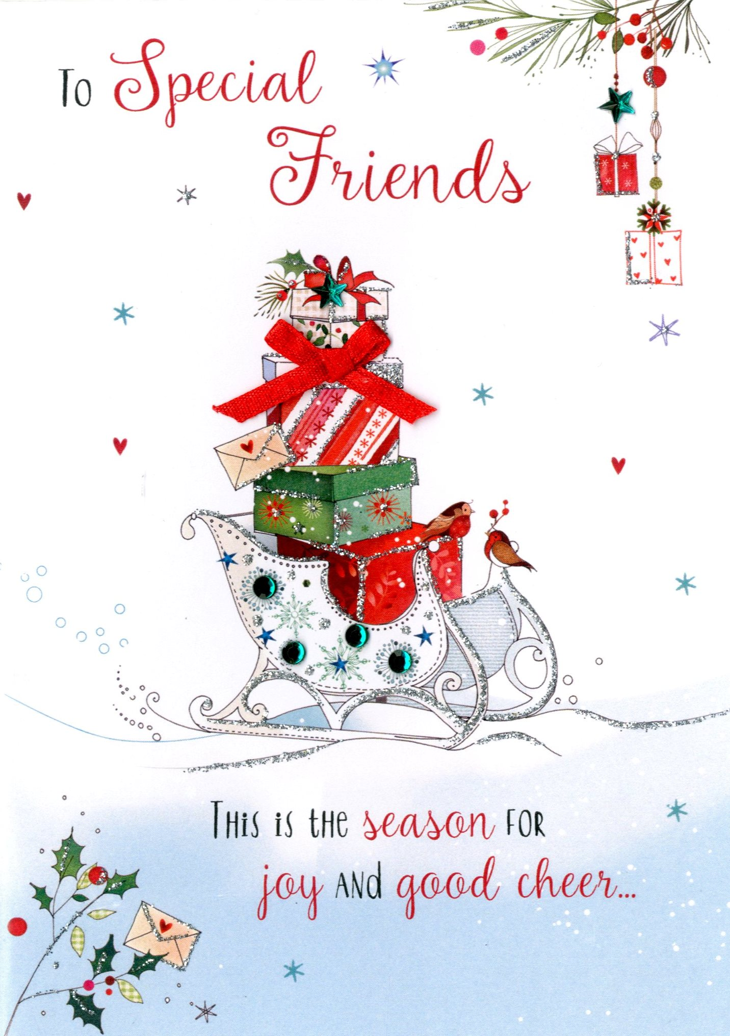 special friends embellished christmas card cards love kates