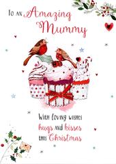 Amazing Mummy Embellished Christmas Card