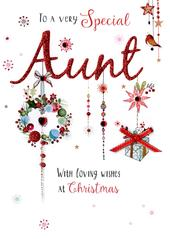 Special Aunt Embellished Christmas Card