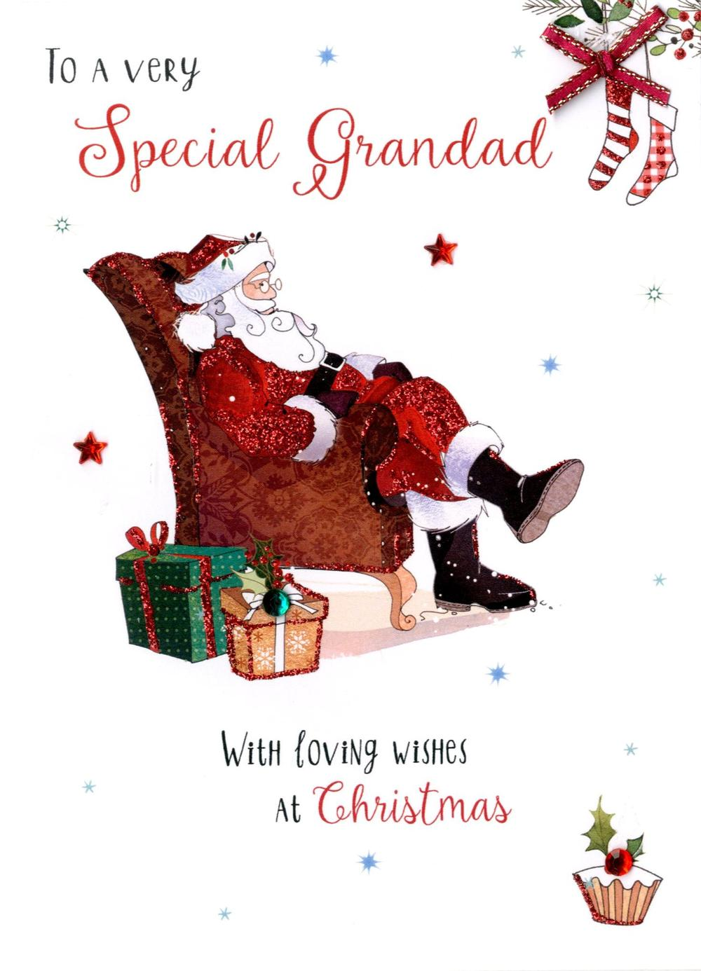 Special Grandad Embellished Christmas Card