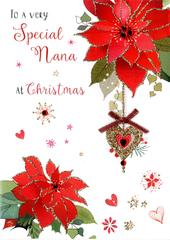 Special Nana Embellished Christmas Card