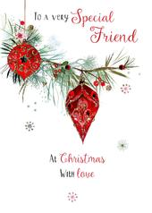 Special Friend Embellished Christmas Card