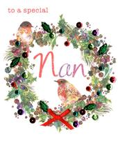 Special Nan Embellished Christmas Card