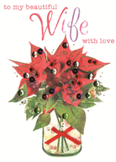 Beautiful Wife Embellished Christmas Card