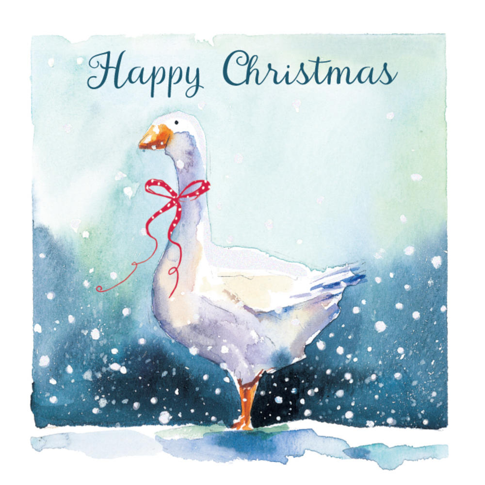 Pack of 5 Christmas Goose Traditional Christmas Cards