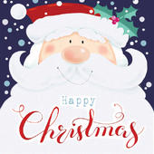 Pack of 5 Happy Christmas Traditional Christmas Cards