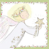 Pack of 5 Christmas Angel Traditional Christmas Cards