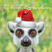 3D Holographic Grandson Christmas Greeting Card