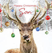 3D Holographic Son Christmas Greeting Card