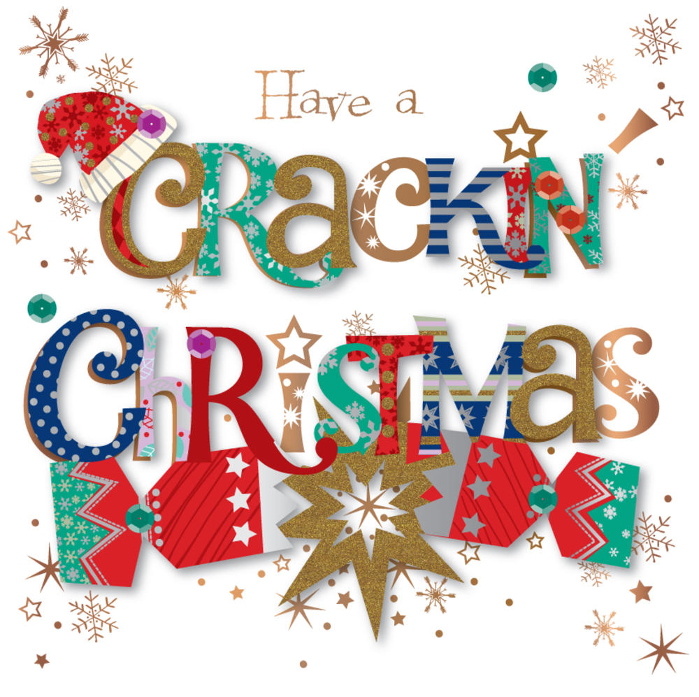 Have A Crackin' Embellished Christmas Greeting Card