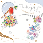 Thinking Of You Embellished Christmas Greeting Card