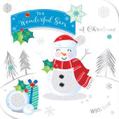 Wonderful Son Embellished Christmas Greeting Card